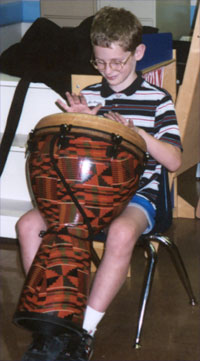 boy drumming